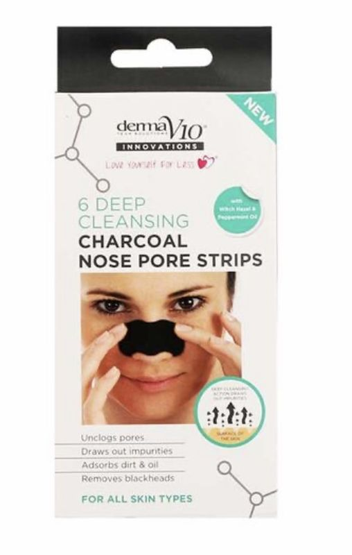 Derma V10: Deep Cleansing Charcoal Nose Pore Strips